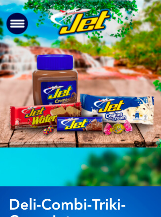 Chocolates jet sitio web mobile 1