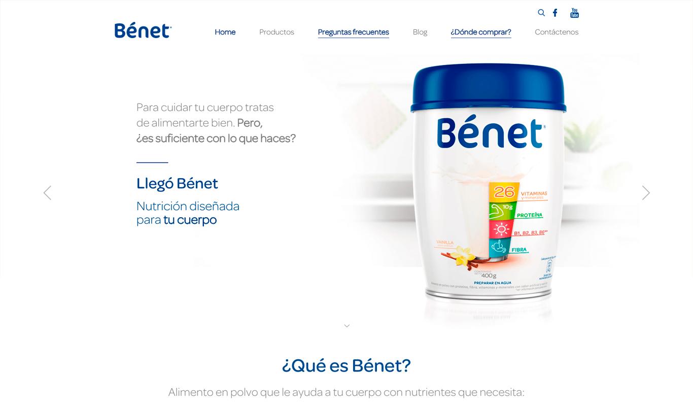 sitio web benet